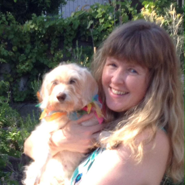 Ginger with her owner, Shari